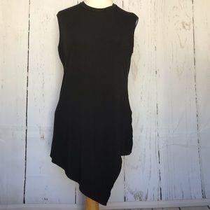 HARVÉ BENARD black asymmetrical sleeveless shirt